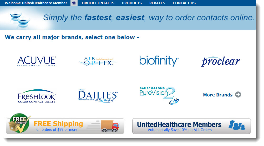 uhccontacts.com Simply the fastest, easiest way to order contacts online.