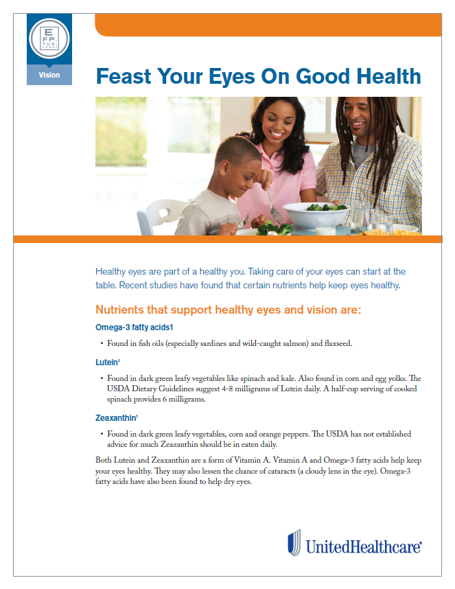 Nutrition and Eye Health