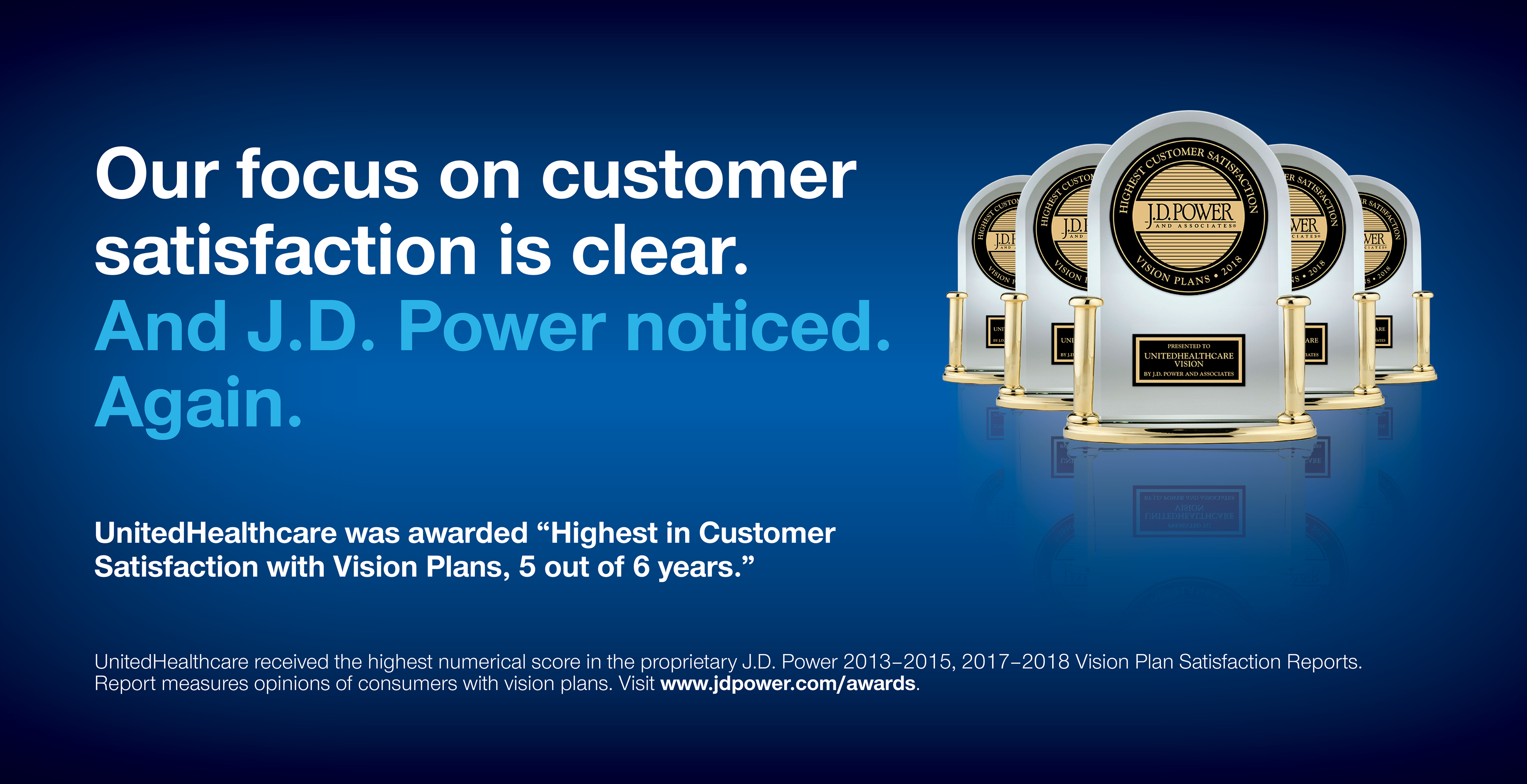 Our focus on customer satisfaction is clear.  JD Power noticed again.